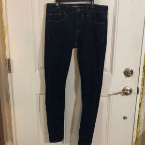 Dark wash midrise jean legging